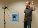 Brown computer scientists have built a robot that can follow nonverbal commands from a person in a variety of environments � indoors as well as outside � all without having to adjust for variations in lighting.  Credit: Nathan Koenig/Brown University